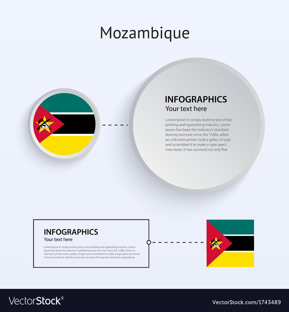 Mozambique country set of banners vector | Price: 1 Credit (USD $1)