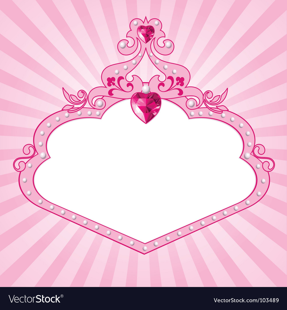 Princess pink frame vector | Price: 1 Credit (USD $1)