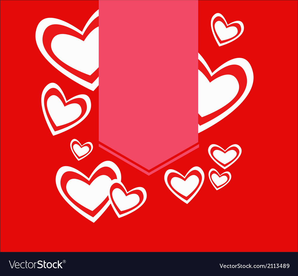 Red hearts with label valentine vector | Price: 1 Credit (USD $1)