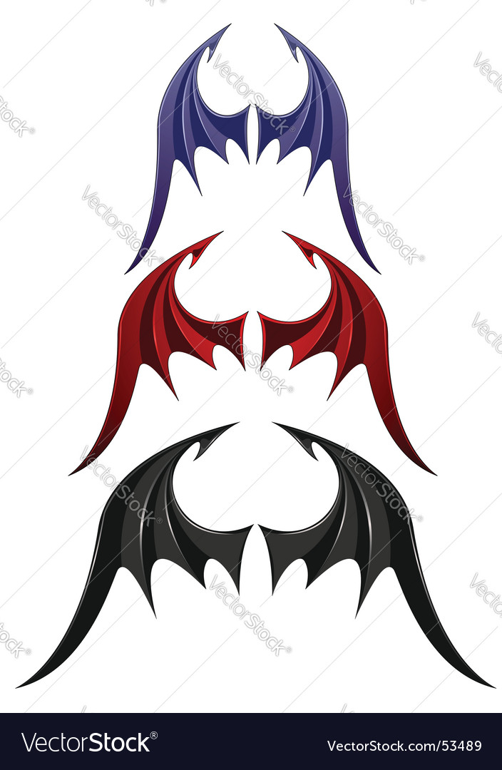 Wings isolated on white vector | Price: 1 Credit (USD $1)