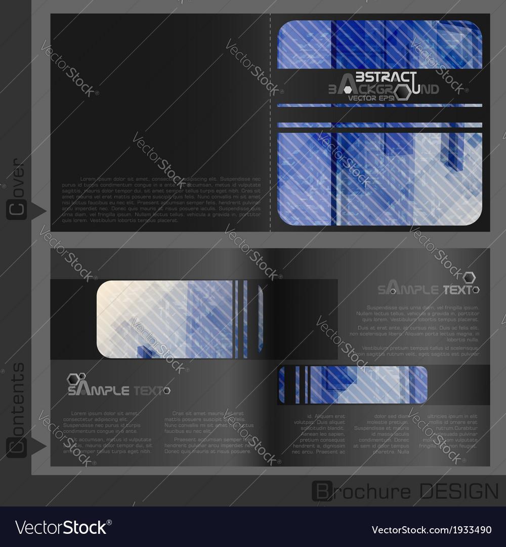 Brochure template design vector | Price: 1 Credit (USD $1)