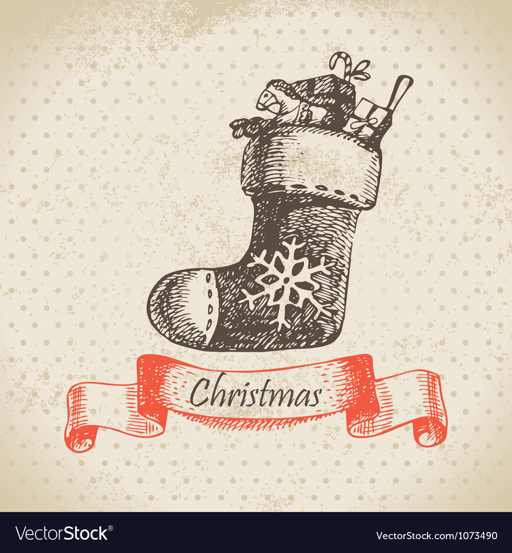 Christmas sock vector | Price: 1 Credit (USD $1)