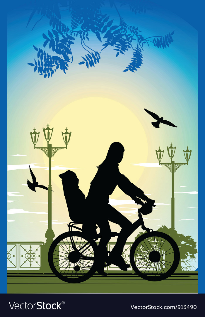 Family bike ride vector   Price: 1 Credit (USD $1)