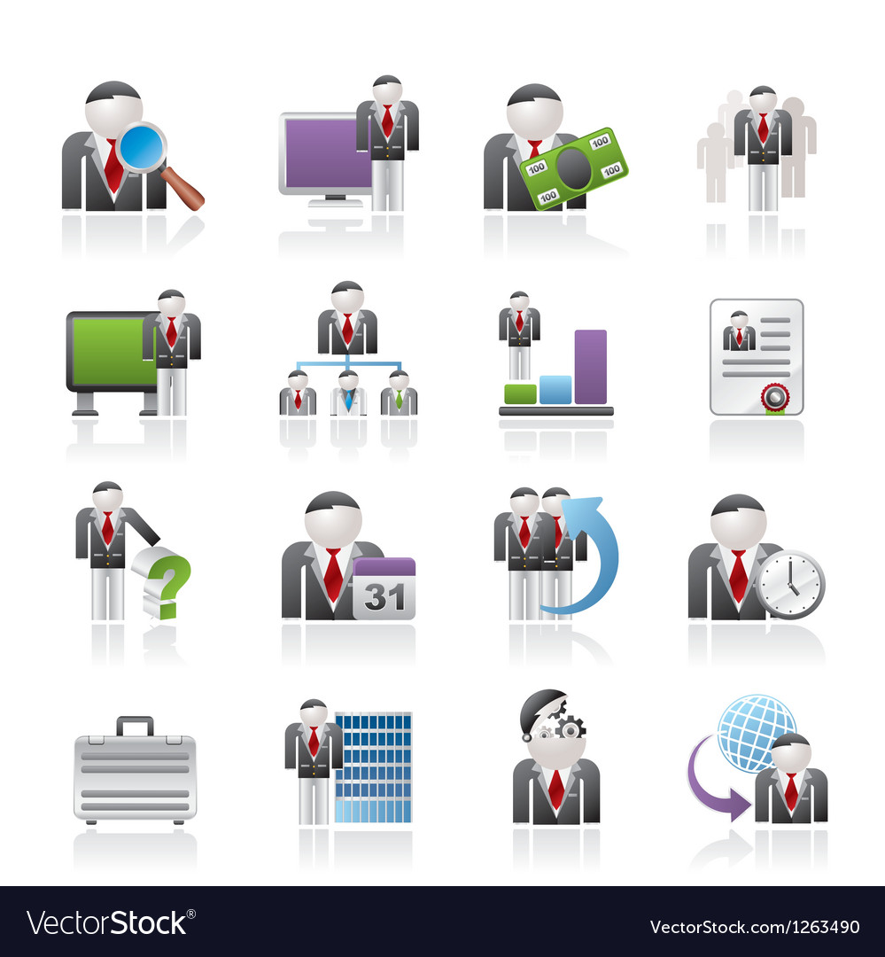 Management and hierarchy icons vector | Price: 3 Credit (USD $3)