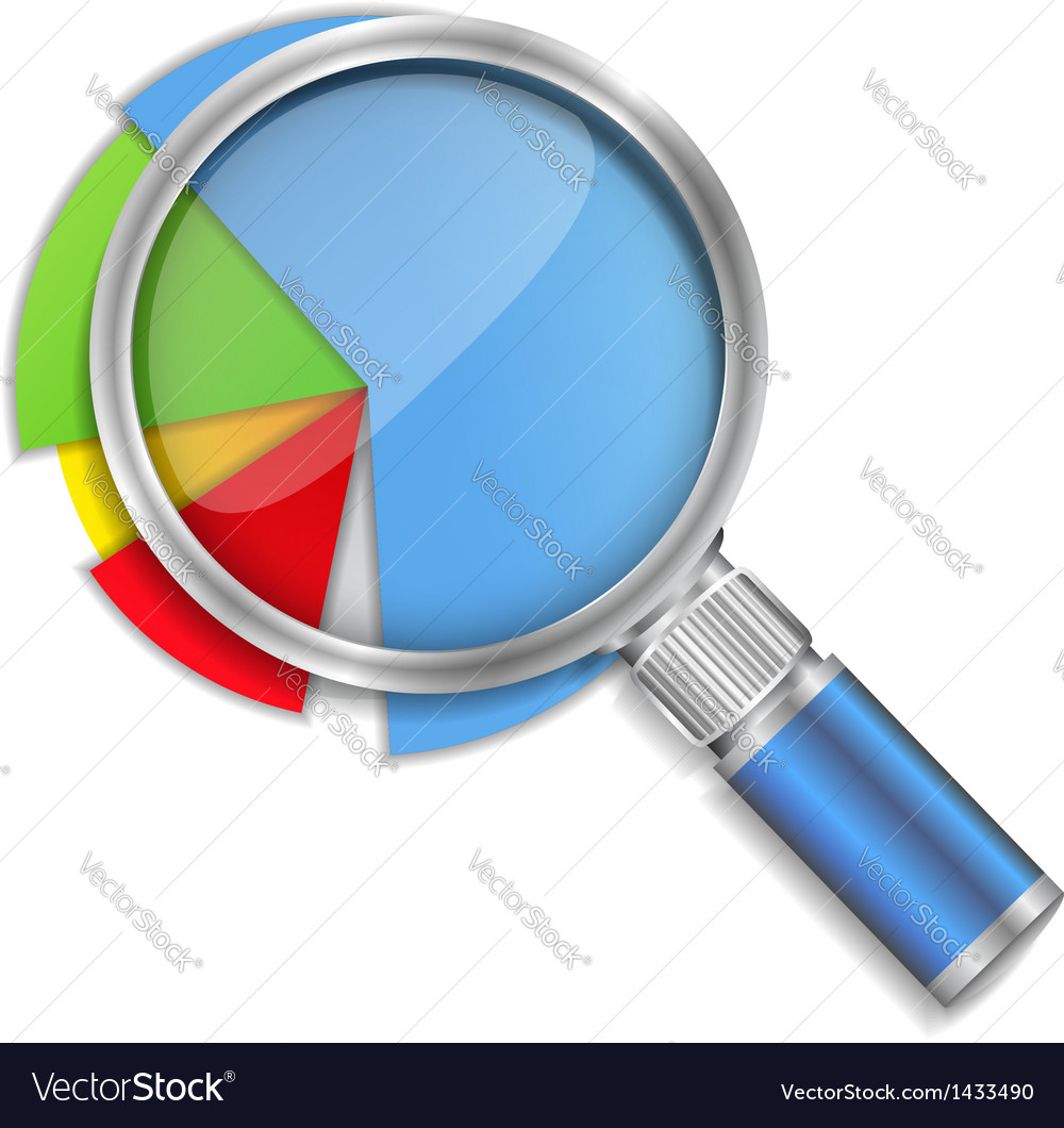 Pie chart analyzing vector | Price: 1 Credit (USD $1)