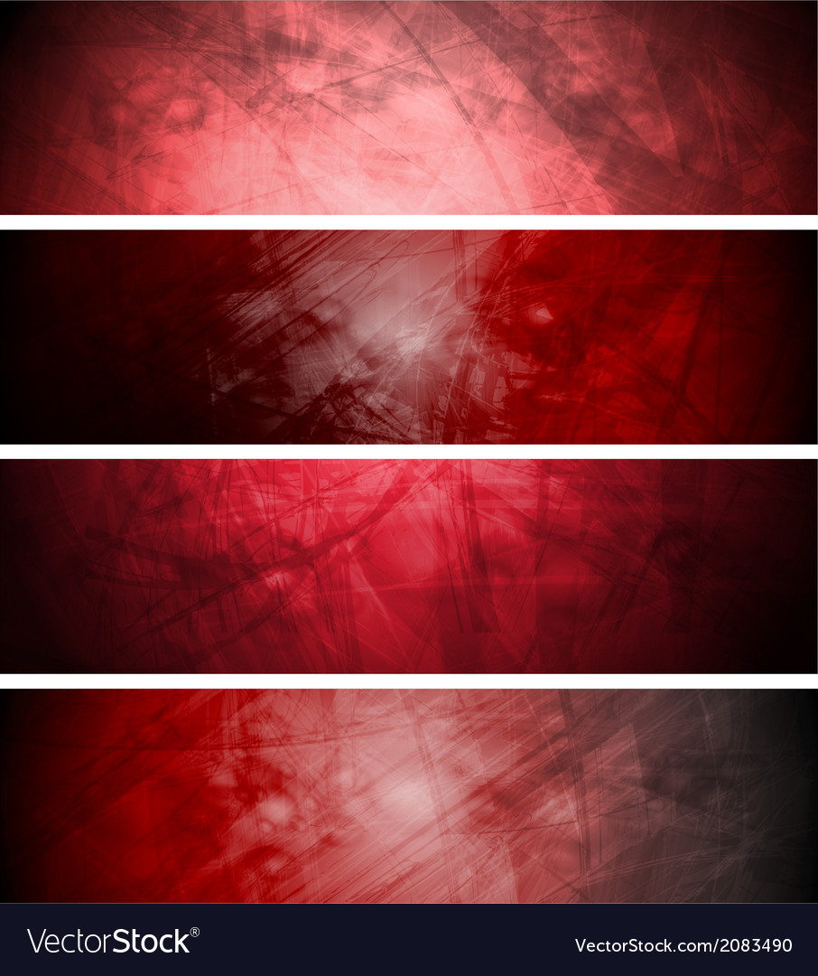 Red textural backgrounds set vector | Price: 1 Credit (USD $1)