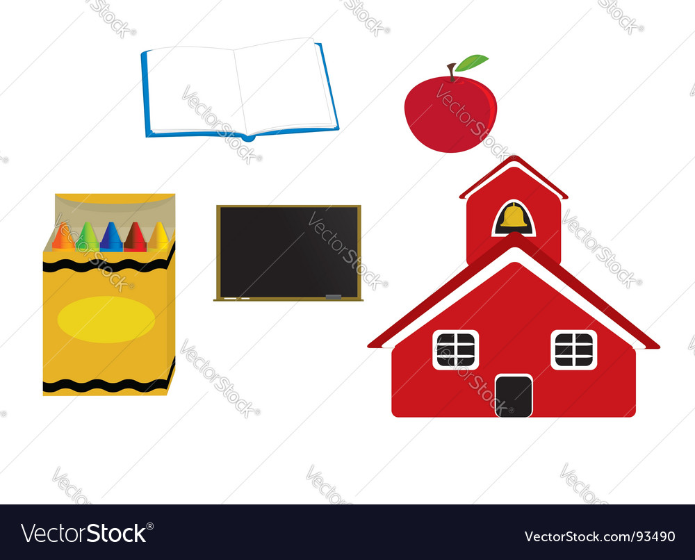 School items vector | Price: 1 Credit (USD $1)