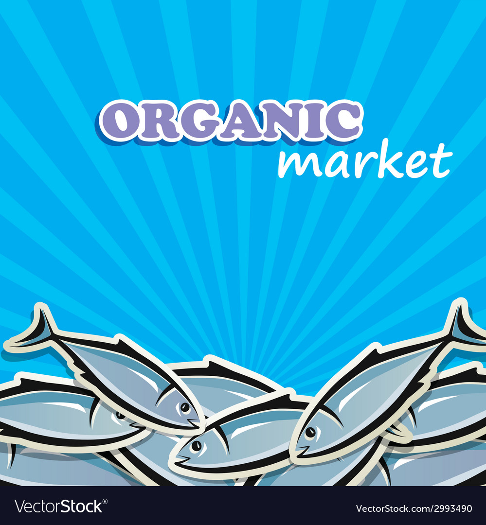 Seafood organic food concept vector | Price: 1 Credit (USD $1)