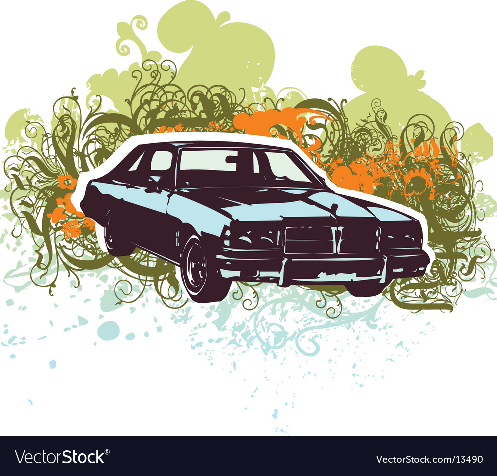 Vintage car retro illustration vector   Price: 1 Credit (USD $1)