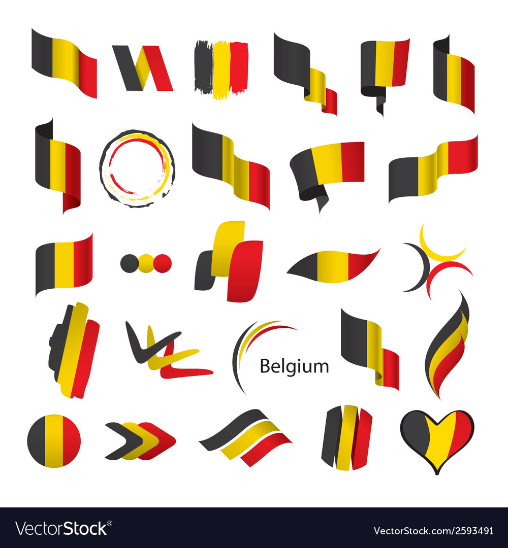 Biggest collection of flags of belgium vector | Price: 1 Credit (USD $1)