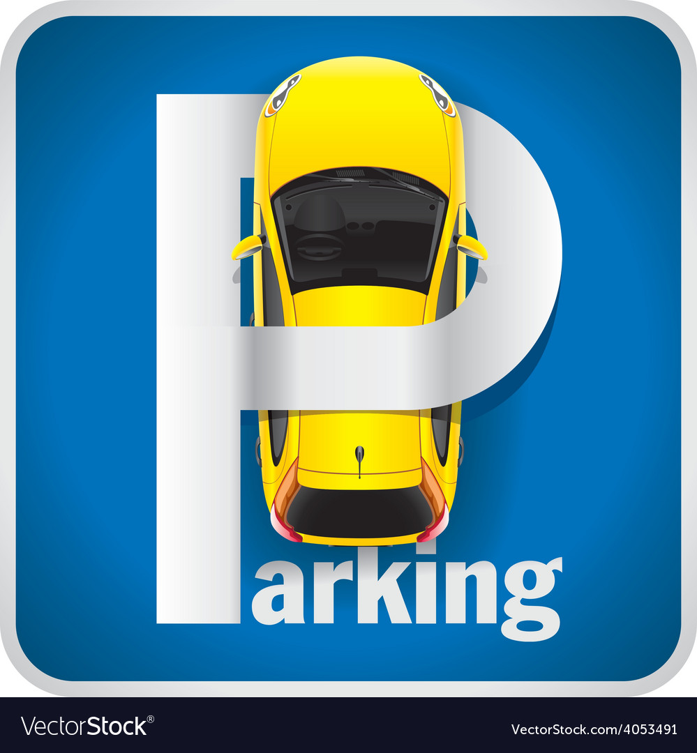 Car parking sign vector | Price: 3 Credit (USD $3)