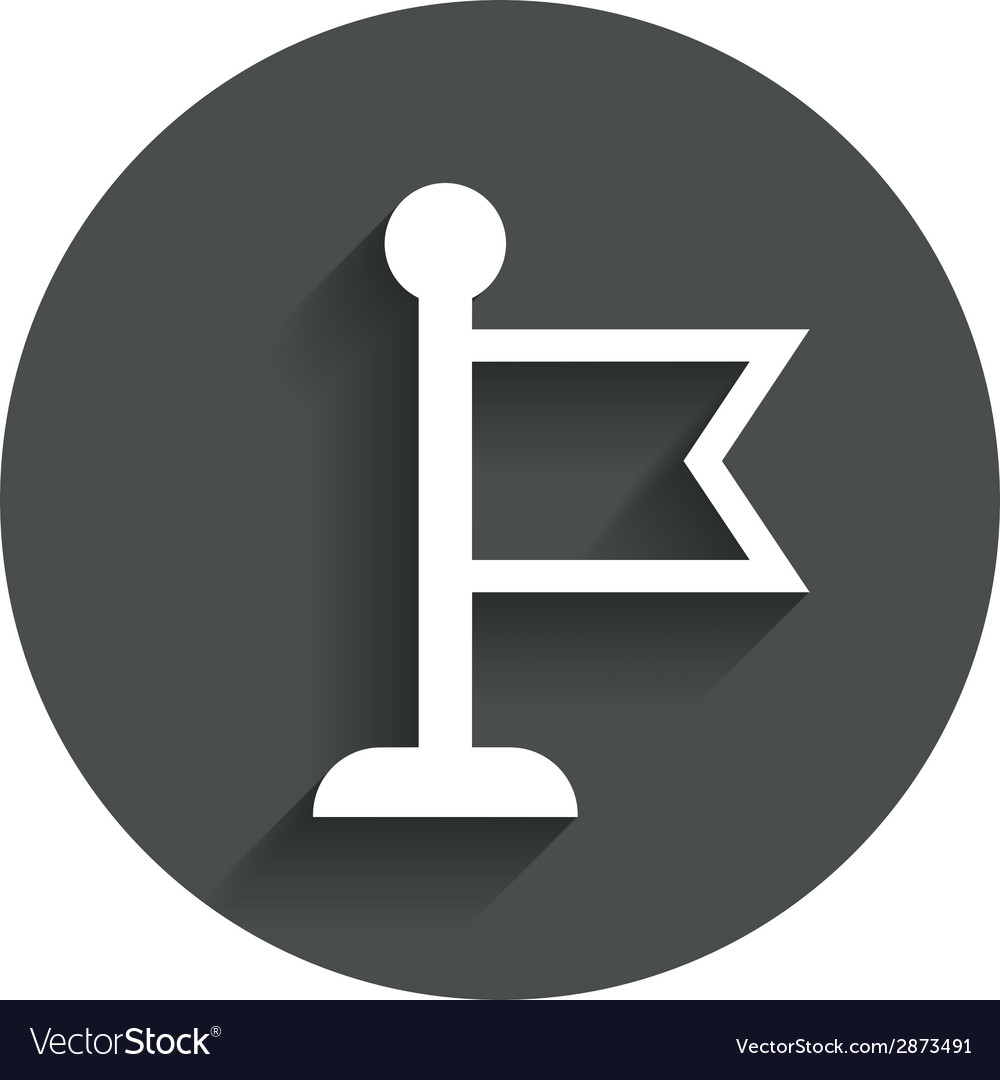Flag pointer sign icon marker symbol vector | Price: 1 Credit (USD $1)