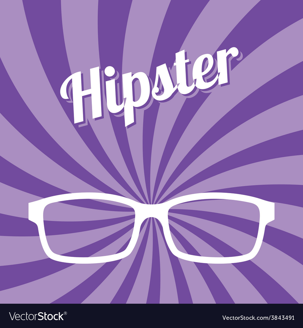 Hipster glasses art vector | Price: 1 Credit (USD $1)
