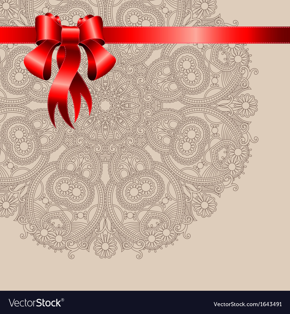 Holiday background with red ribbon vector | Price: 1 Credit (USD $1)