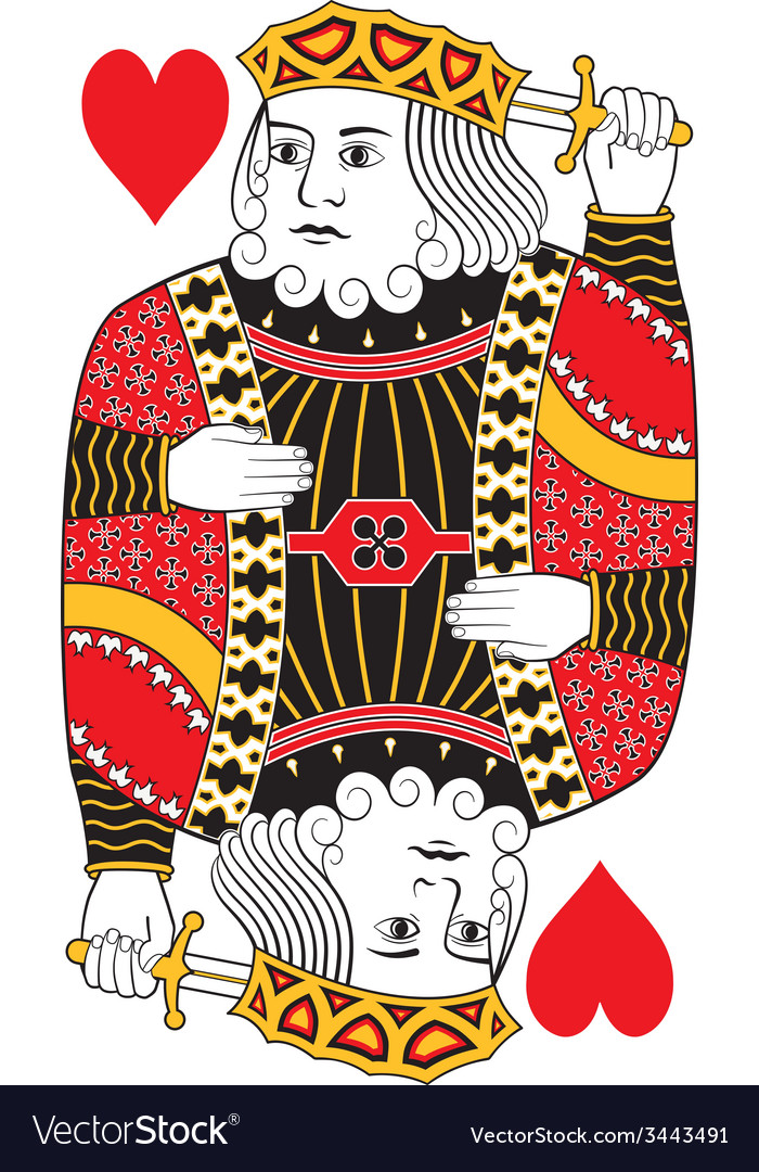King of hearts no card vector | Price: 1 Credit (USD $1)