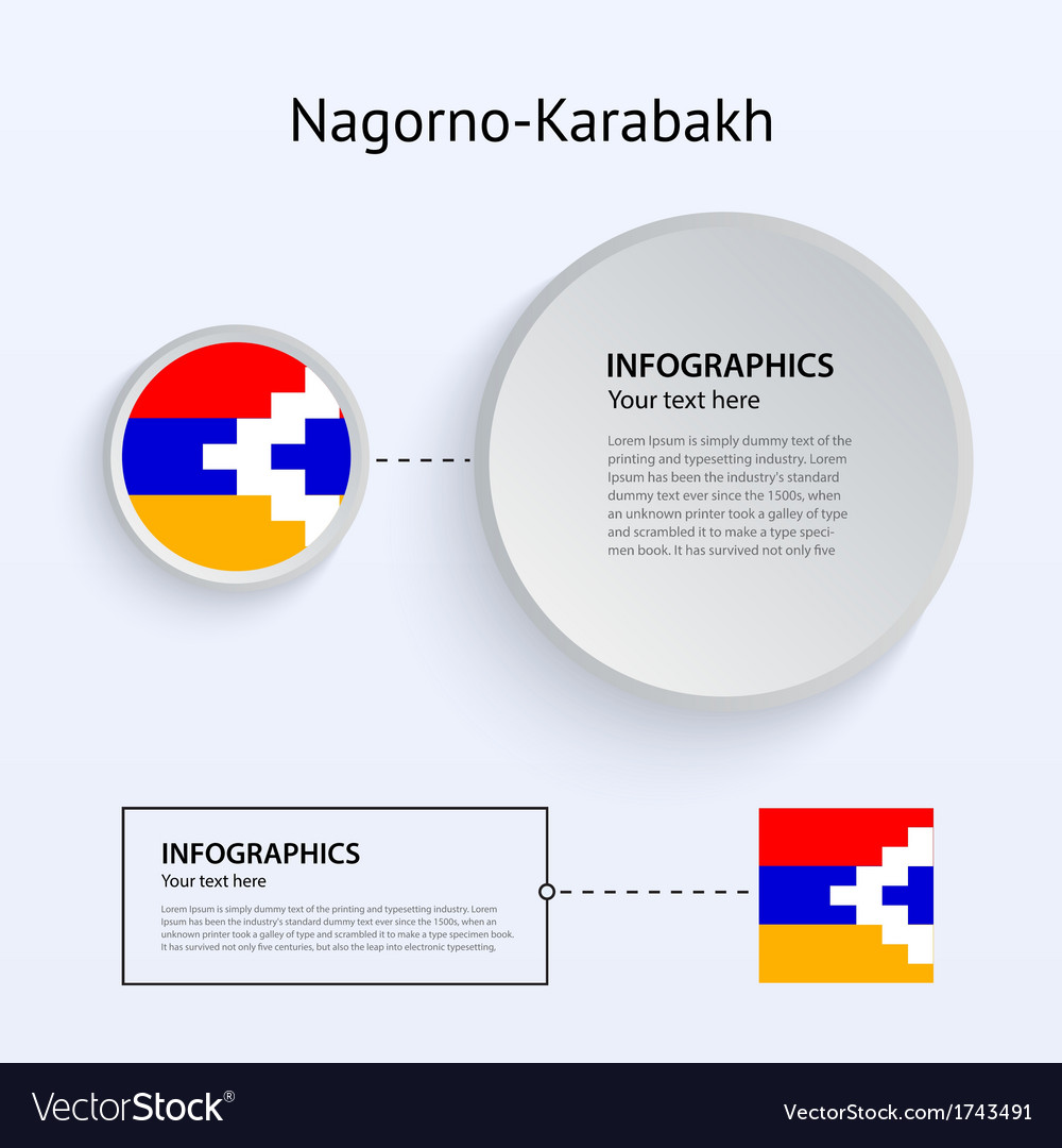 Nagorno-karabakh country set of banners vector | Price: 1 Credit (USD $1)