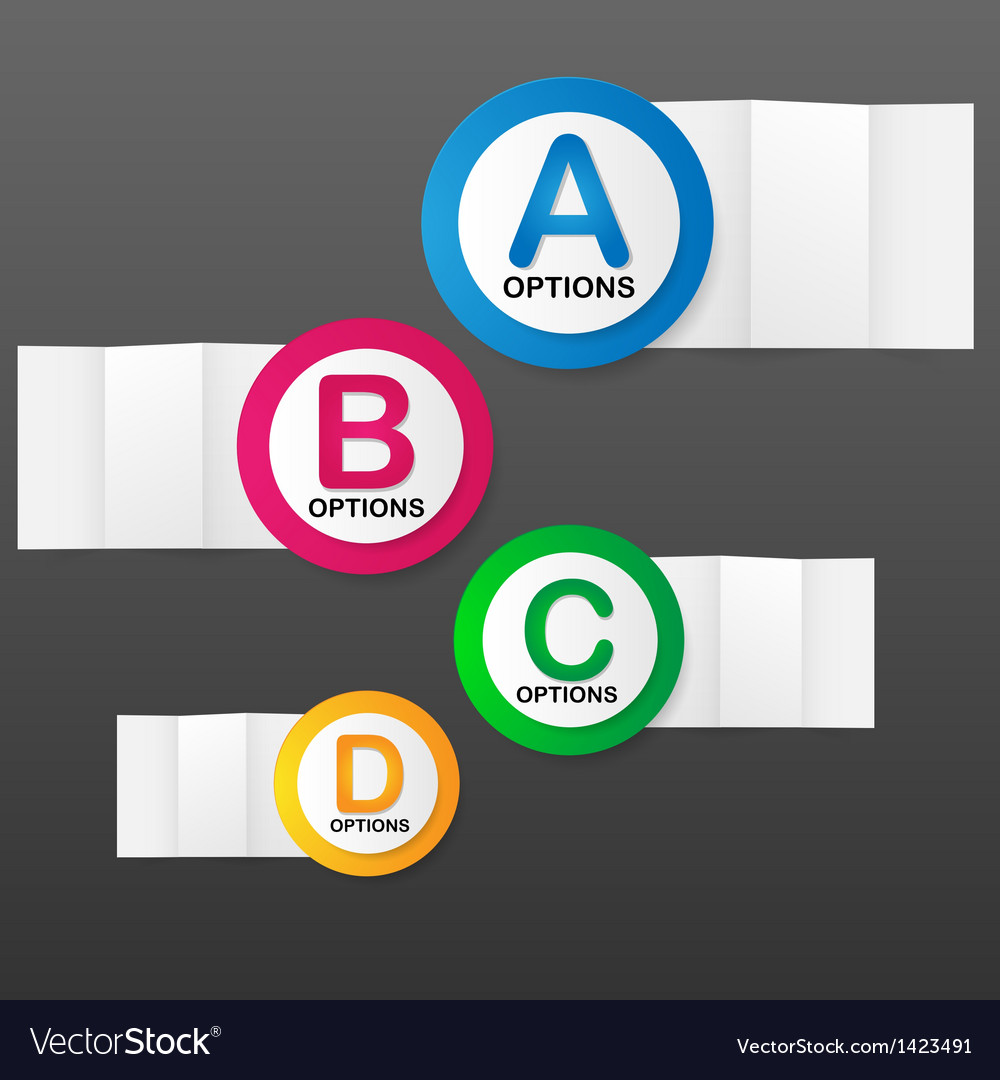 Options banner template vector | Price: 1 Credit (USD $1)
