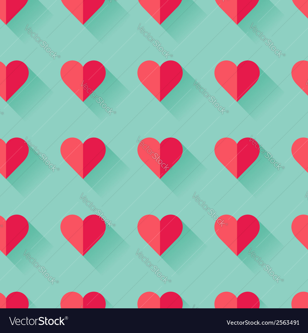 Pink abstract valentines heart pattern vector