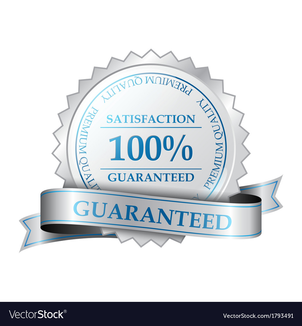 Premium guarantee label vector
