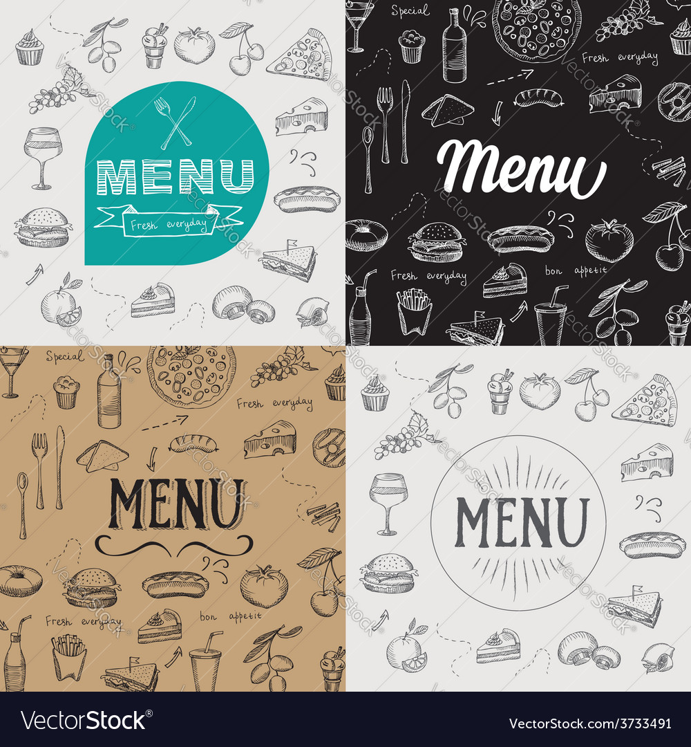 Restaurant cafe menu template design vector | Price: 1 Credit (USD $1)
