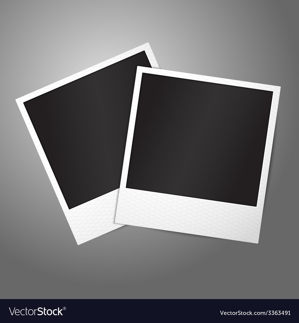 Two blank instant photo frames template for your vector | Price: 3 Credit (USD $3)