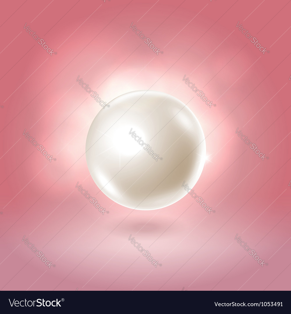 White glowing gorgeous pearl ball vector | Price: 1 Credit (USD $1)