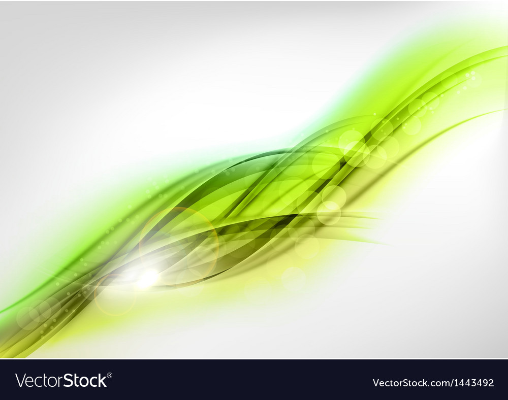 Background green wave white horizontal vector | Price: 1 Credit (USD $1)