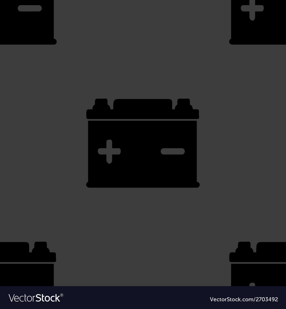 Car battery web icon flat design seamless gray vector   Price: 1 Credit (USD $1)