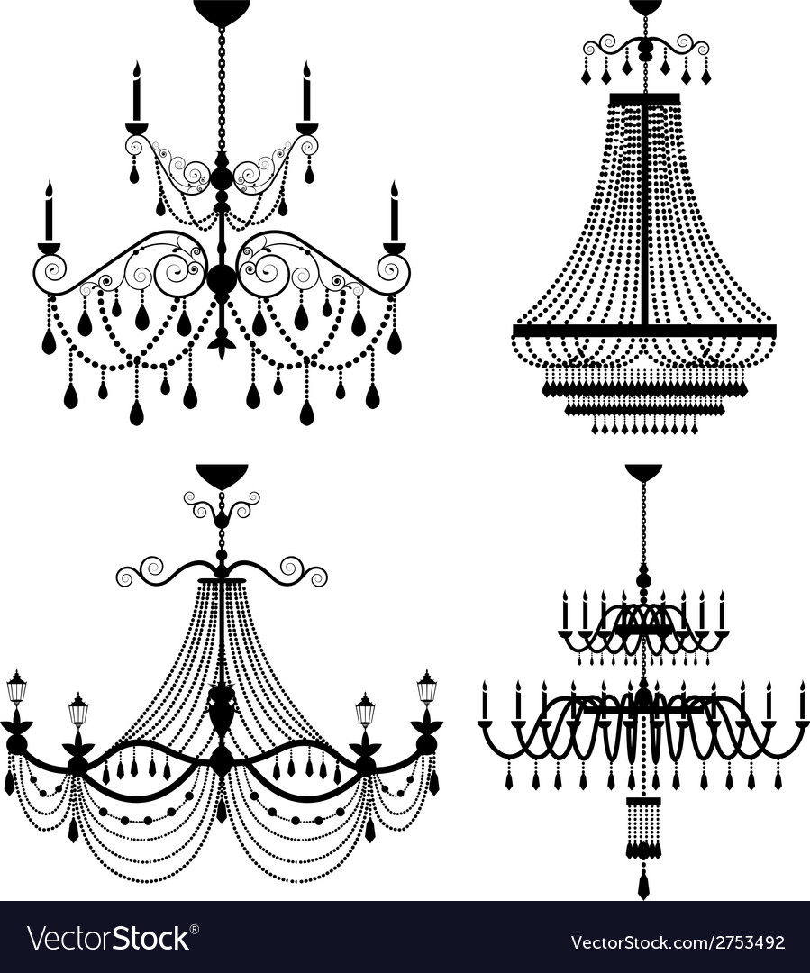 Chandelier lamp vector | Price: 1 Credit (USD $1)