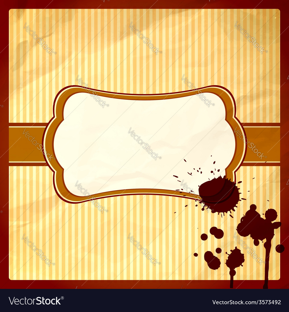 Crumpled frame with chocolate drops vector | Price: 1 Credit (USD $1)