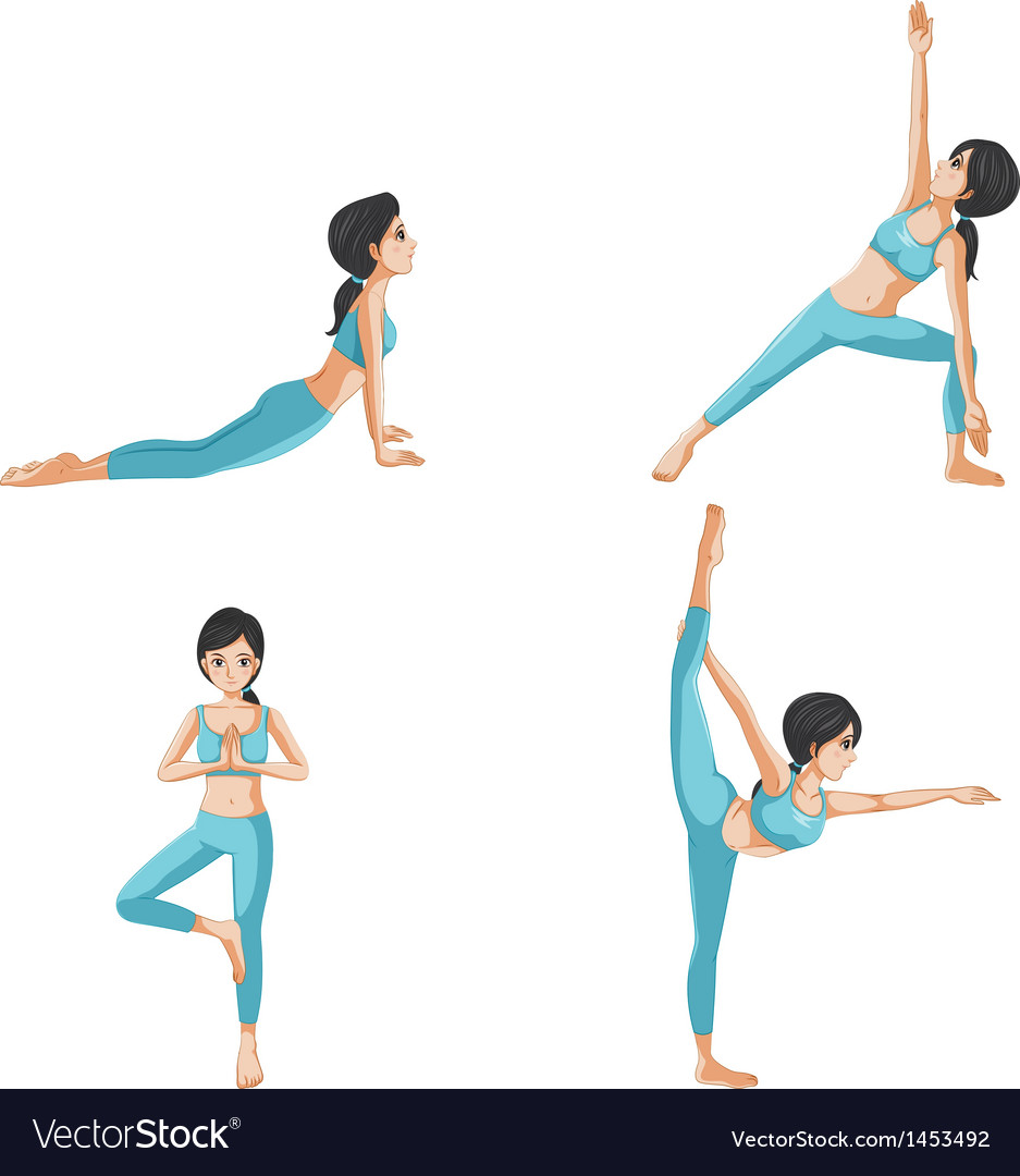 Different positions of yoga vector | Price: 1 Credit (USD $1)