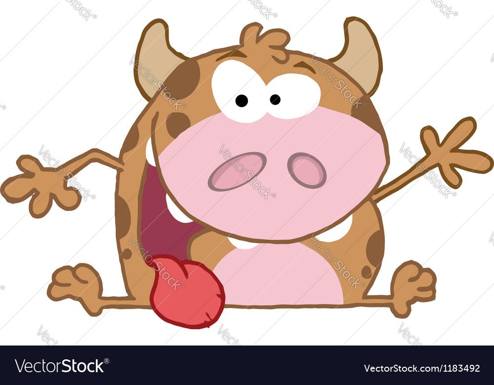 Happy calf cartoon character vector | Price: 3 Credit (USD $3)