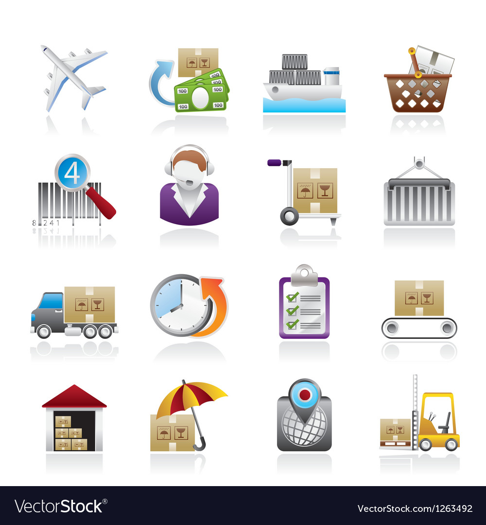 Logistic and shipping icons vector | Price: 3 Credit (USD $3)