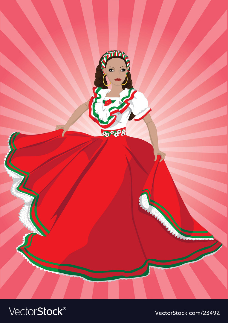Mexican dancer vector | Price: 5 Credit (USD $5)