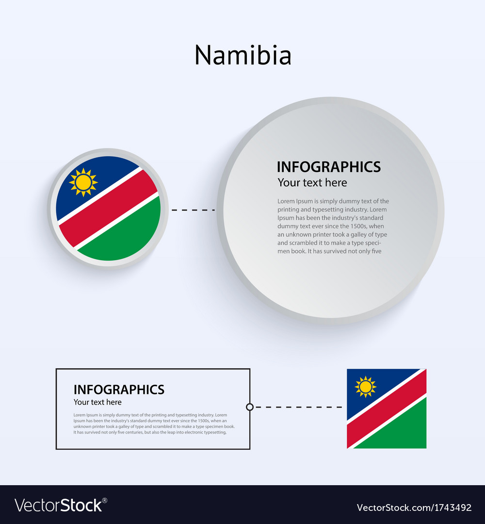 Namibia country set of banners vector | Price: 1 Credit (USD $1)