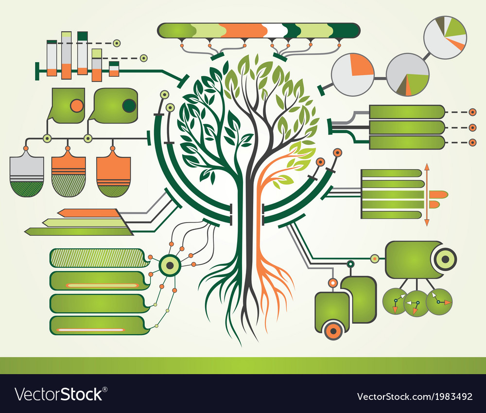 Nature infographic vector | Price: 1 Credit (USD $1)