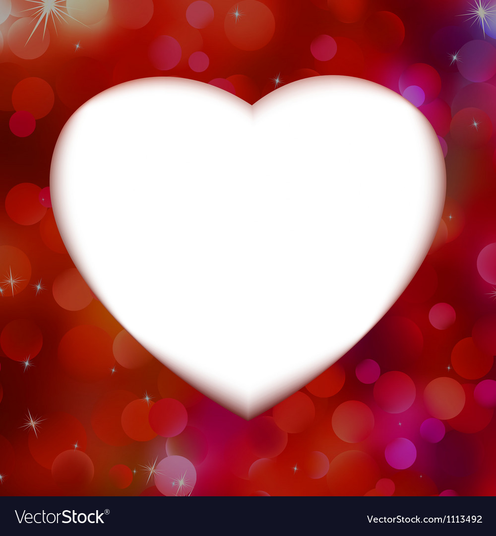 Red bokeh with white heart as background eps 8 vector | Price: 1 Credit (USD $1)
