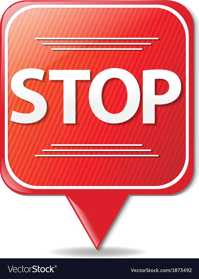 Sign stop vector | Price: 1 Credit (USD $1)