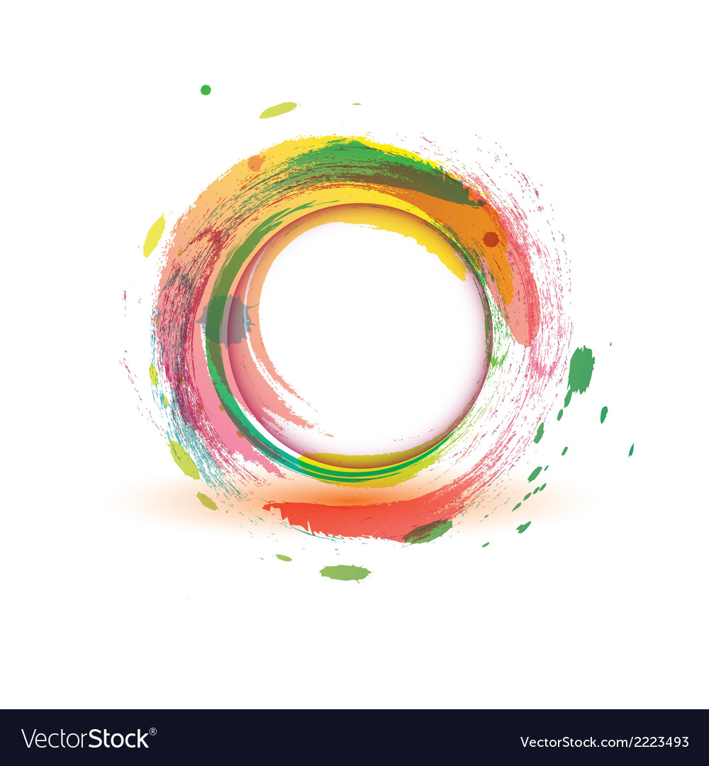 Abstarct background multicolor water circle vector | Price: 1 Credit (USD $1)