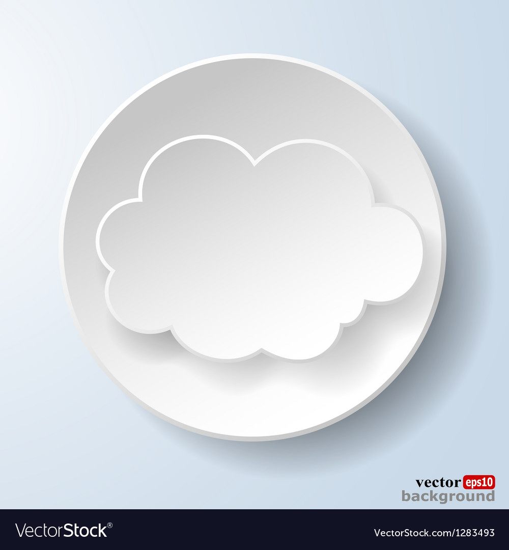 Abstract paper speech bubble vector | Price: 1 Credit (USD $1)
