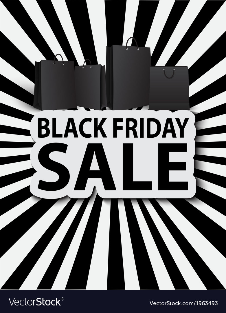 Black friday sale with shopping bags vector | Price: 1 Credit (USD $1)