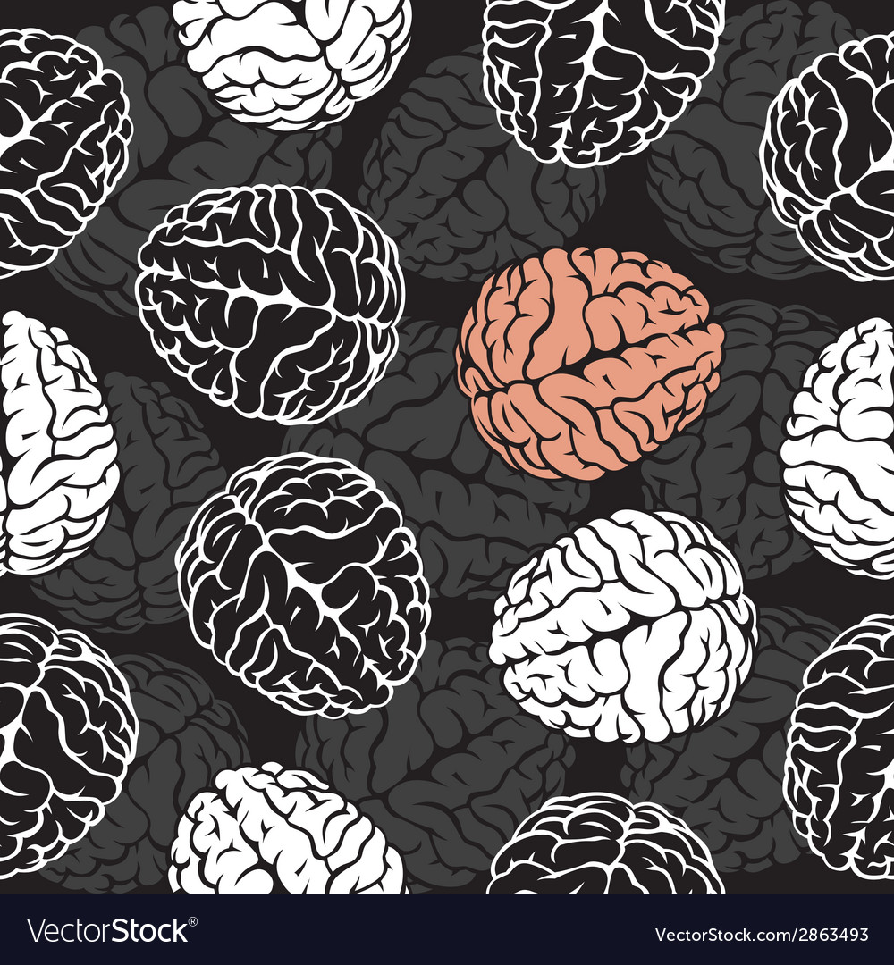 Brain seamless background  template for your vector | Price: 1 Credit (USD $1)