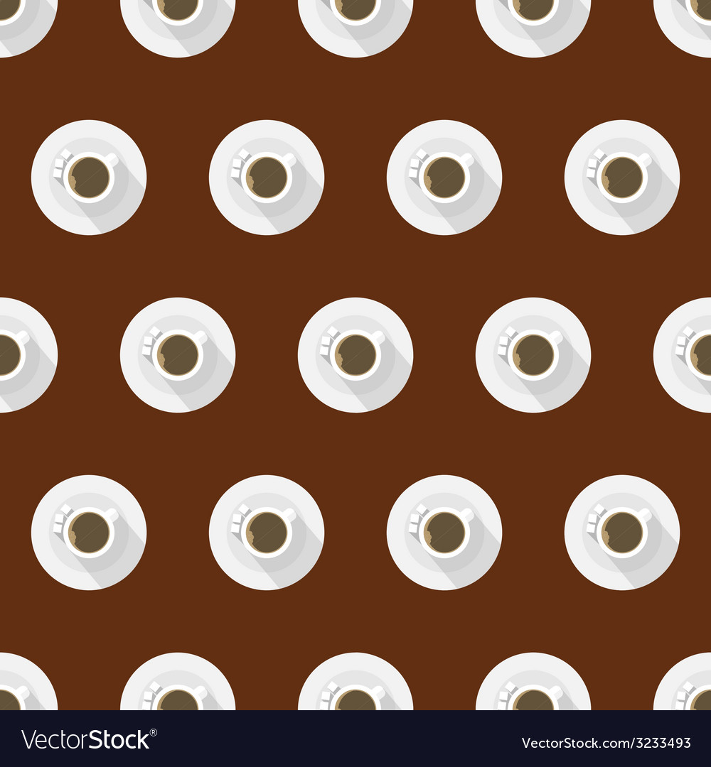 Flat background for coffee cup vector | Price: 1 Credit (USD $1)