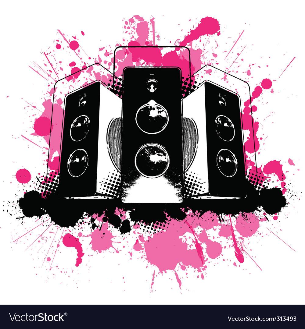 Grunge speaker vector | Price: 1 Credit (USD $1)
