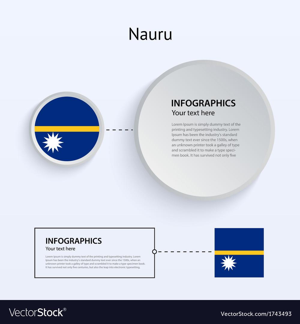 Nauru country set of banners vector | Price: 1 Credit (USD $1)
