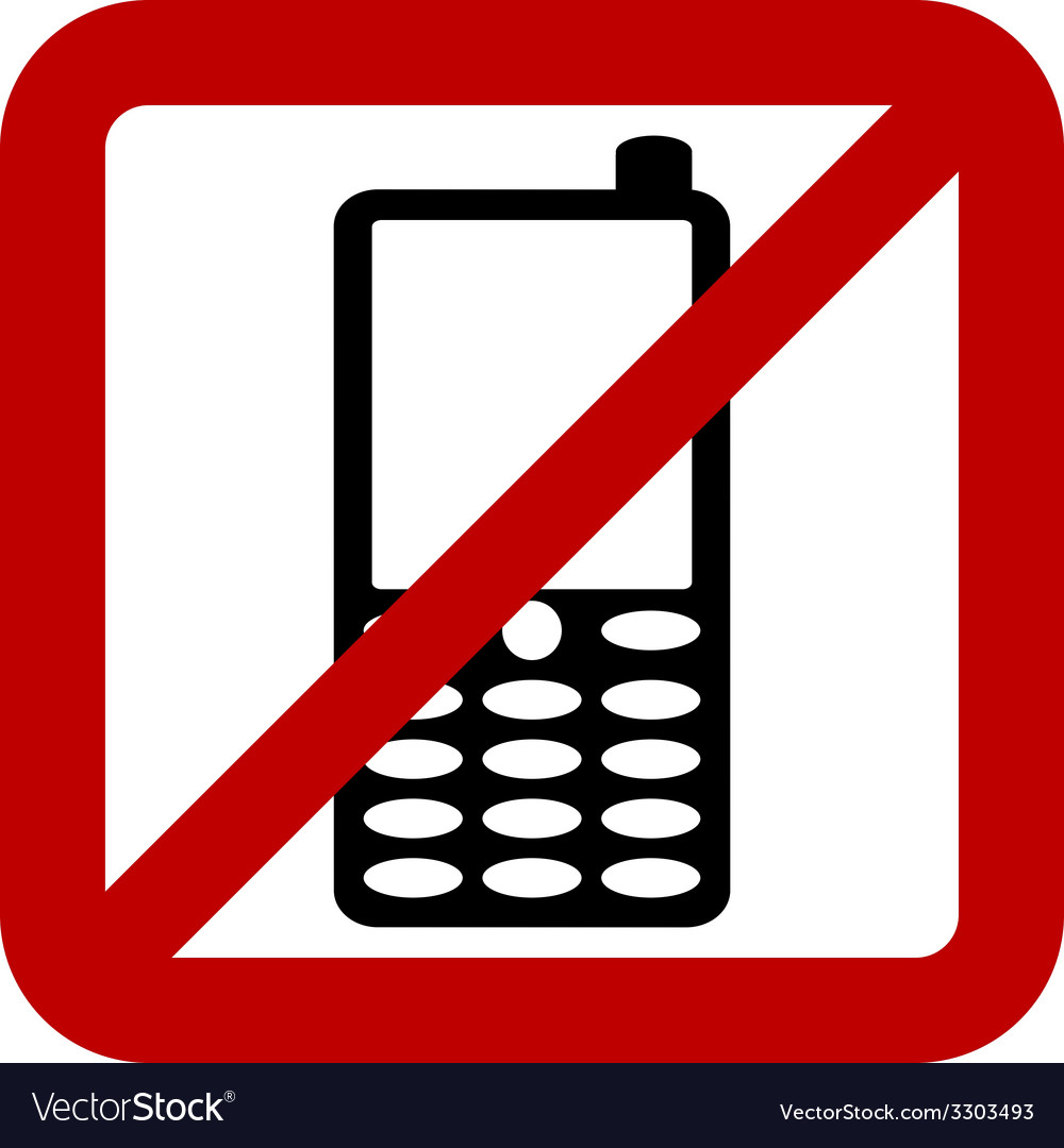 No phone sign vector | Price: 1 Credit (USD $1)