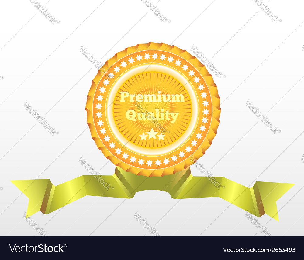 Premium quality label eps10 vector | Price: 1 Credit (USD $1)