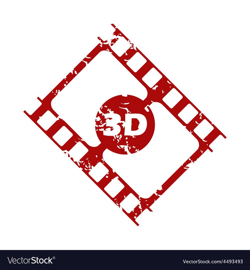 Red grunge 3d film logo vector | Price: 1 Credit (USD $1)