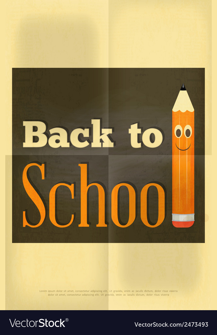 School poster pencil vector | Price: 1 Credit (USD $1)