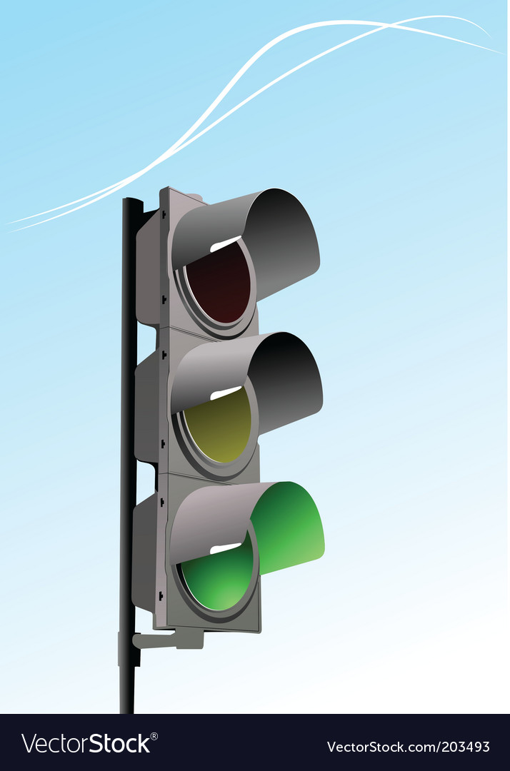Traffic light in sky background vector | Price: 1 Credit (USD $1)